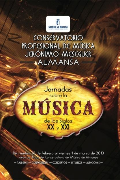 Jornadas sobre música de los s. XX y XXI Almansa